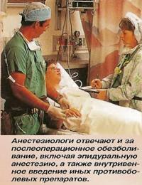 Анестезиологи отвечают и за послеоперационное обезболивание