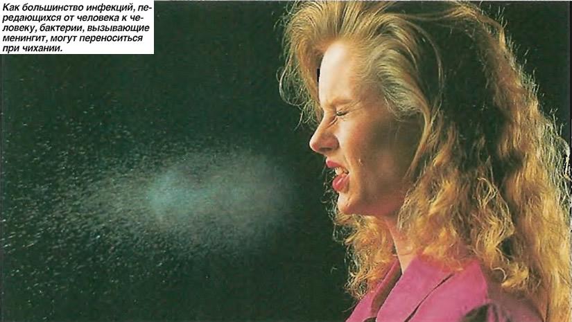 Бактерии, вызывающие менингит, могут переноситься при чихании