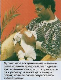 Бутылочное вскармливание это хорошая возможность для отца привязаться к ребенку
