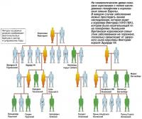 Cцепленное с полом наследование гемофилии в королевских семьях Европы