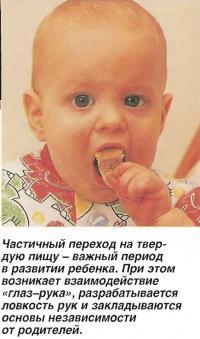 Частичный переход на твердую пищу - важный период в развитии ребенка