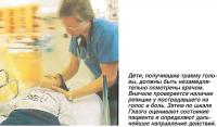 Дети, получившие травму головы, должны быть незамедлительно осмотрены врачом