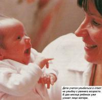 Дети учатся улыбаться в ответ на улыбку с раннего возраста