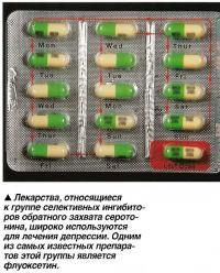Для лечения депрессии используются лекарства, относящиеся к группе селективных ингибиторов