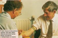 Для теста на повышенный уровень ПСА врач берет образец венозной крови