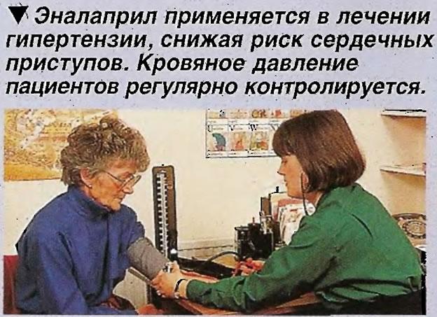 Эналаприл применяется в лечении гипертензии