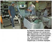 Хирургу оказывают необходимую помощь его ассистент