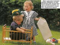 Игра с друзьями позволяет ребенку примерять на себя различные роли