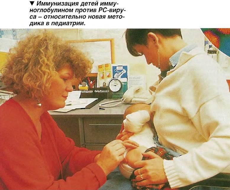 Иммунизация детей иммуноглобулином против РС-виру-са