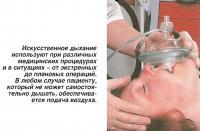 Искусственное дыхание используют при различных медицинских процедурах