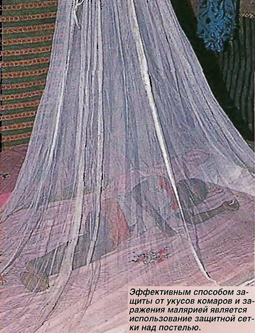 Использование защитной сетки над постелью