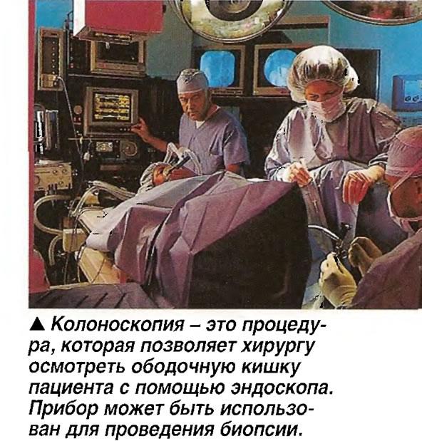 Колоноскопия - это процедура, которая позволяет хирургу осмотреть ободочную кишку