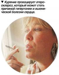 Курение провоцирует атеросклероз
