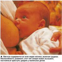 Лактоза содержится во всех видах молока, включая грудное