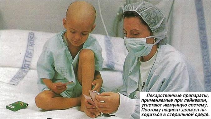 Лекарственные препараты, применяемые при лейкемии, угнетают иммунную систему