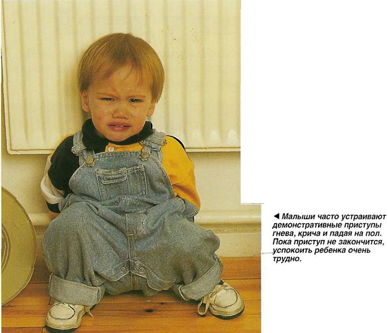 Малыши часто устраивают демонстративные приступы гнева