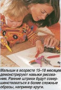 Малыши в возрасте 15-18 месяцев демонстрируют навыки рисования