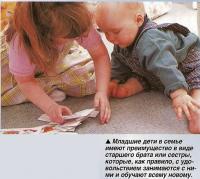 Младшие дети в семье имеют преимущество в виде старшего брата или сестры