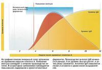 На графике показан иммунный ответ организма на заражение вирусом гепатита А