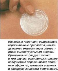 Накожные пластыри, содержащие гормональные препараты