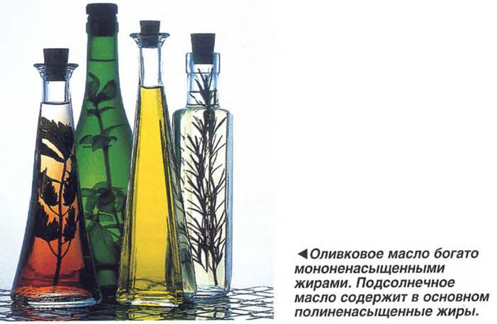 Оливковое масло богато мононенасыщенными жирами
