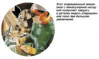 Операционный микроскоп с бинокулярной насадкой