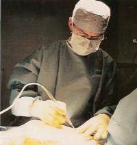 Пациент одет в стерильную одежду
