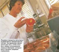 Пищевые продукты регулярно подвергаются лабораторным тестам