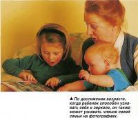 По достижении возраста ребенок способен узнавать членов своей семьи на фотографиях