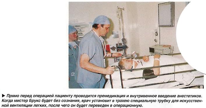 Премедикация и внутривенное введение анестетиков
