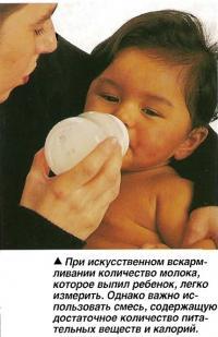 При искусственном вскармливании количество молока, которое выпил ребенок, легко измерить