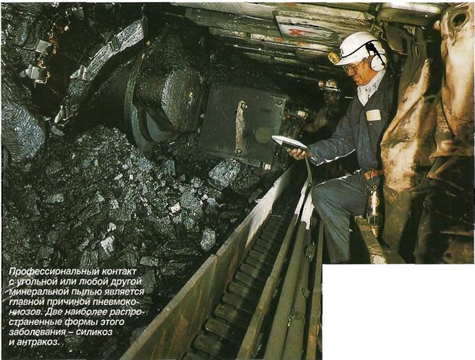 Профессиональный контакт с угольной или любой другой Минеральной пылью