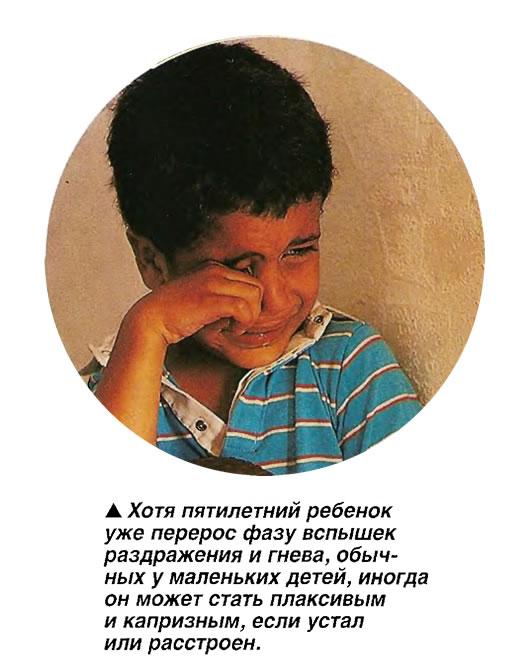 Ребенок может стать плаксивым и капризным, если устал или расстроен