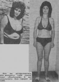 Результаты женщины принимающей «Гербалайф»