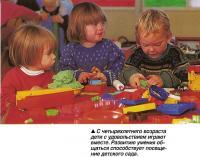 С четырехлетнего возраста дети с удовольствием играют вместе