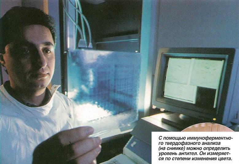 С помощью иммуноферментного твердофазного анализа можно определить уровень антител