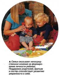 Семья оказывает непосредственное влияние на формирование личности ребенка.