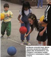 Школа способствует физическому развитию ребенка