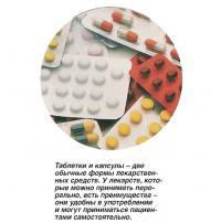 Таблетки и капсулы - две обычные формы лекарственных средств