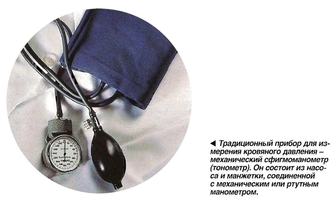 Традиционный прибор для измерения кровяного давления -механический сфигмоманометр (тонометр)