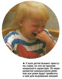 У всех детей бывают приступы гнева, но это не признак капризного характера