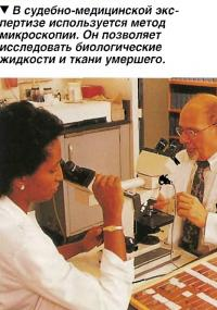В судебно-медицинской экспертизе используется метод микроскопии