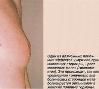 Возможный побочный эффект у мужчин - рост молочных желез (гинекомастия)