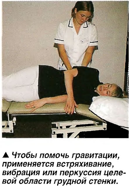 Встряхивание, вибрация или перкуссия целевой области грудной стенки