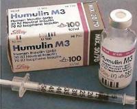Высоко очищенный инсулин животных или генномодифицированный инсулина человека