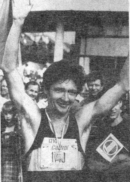Юрий Казьмин из Харькова победитель ММММ-93. Его время 2:20.09